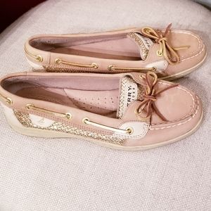 Sperry angelfish gold sequin Top Sider boat shoes